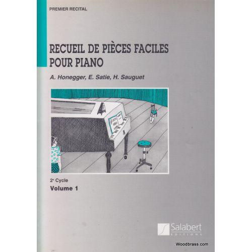 SALABERT RECUEIL DE PIECES FACILES POUR PIANO VOL.1