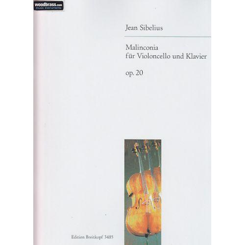 EDITION BREITKOPF SIBELIUS J. - MALINCONIA OP. 20 - VIOLONCELLE, PIANO