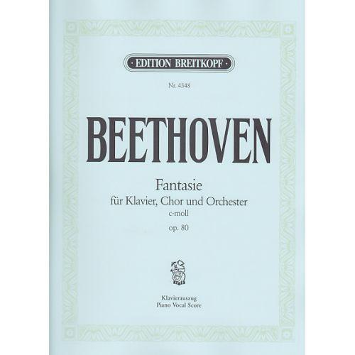 EDITION BREITKOPF BEETHOVEN L. (VAN) - CHORFANTASIE C-MOLL OP. 80 - PIANO-CHANT