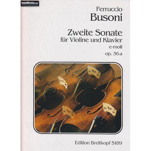 EDITION BREITKOPF BUSONI F. - ZWEITE SONATE E-MOLL OP. 36A