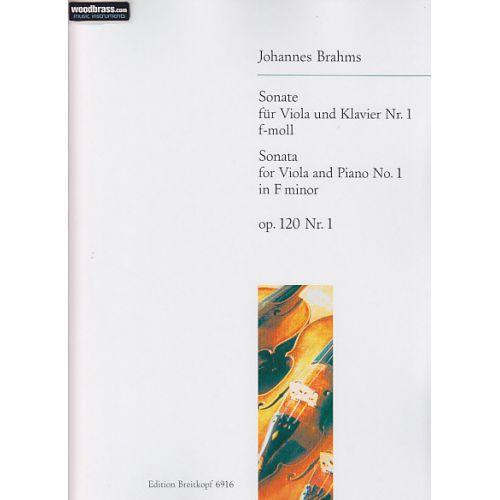 EDITION BREITKOPF BRAHMS J. - SONATE NR. 1 F-MOLL OP. 120/1