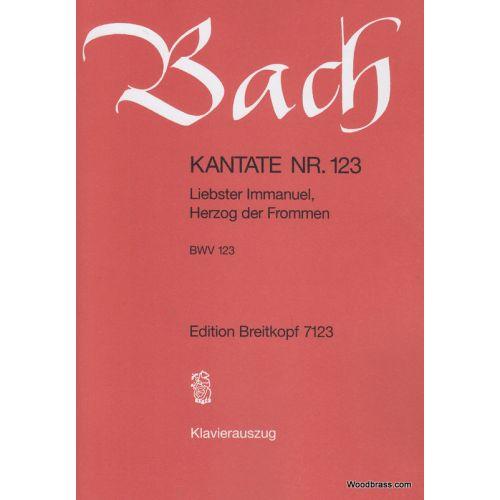 EDITION BREITKOPF BACH J.S. - KANTATE 123 LIEBSTER IMMANUEL