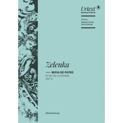 EDITION BREITKOPF ZELENKA - MISSA DEI PATRIS IN C MAJOR ZWV 19 - VOCAL SCORE