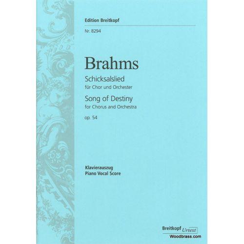 EDITION BREITKOPF BRAHMS J. - SCHICKSALSLIED OP.54