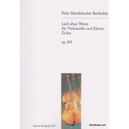 EDITION BREITKOPF MENDELSSOHN BARTHOLDY F. - LIED OHNE WORTE OP. 109