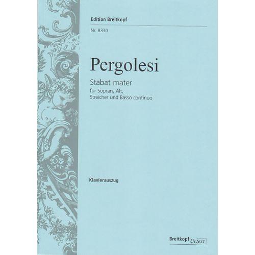 EDITION BREITKOPF PERGOLESI G.B. - STABAT MATER