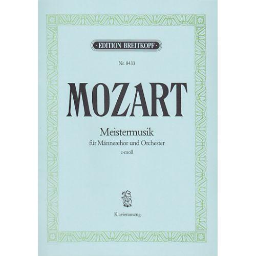 EDITION BREITKOPF MOZART W.A. - MEISTERMUSIK.REKONSTRUKT.KV477