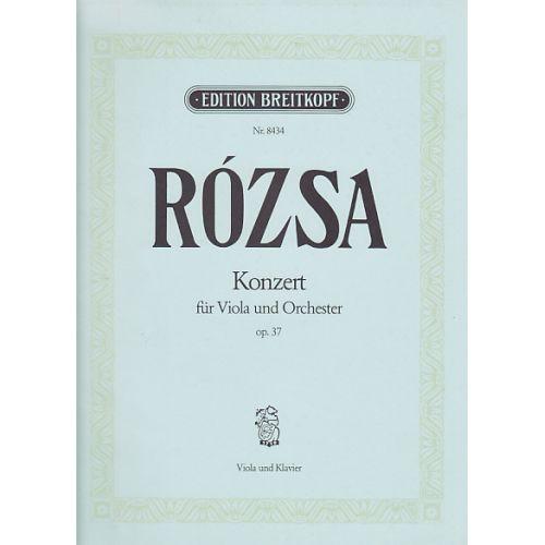 EDITION BREITKOPF ROZSA M. - VIOLAKONZERT OP. 37