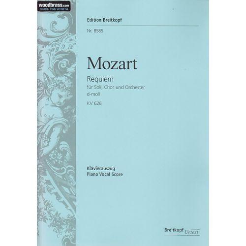 EDITION BREITKOPF MOZART W.A. - REQUIEM D-MOLL KV 626