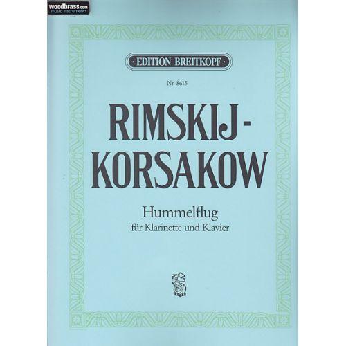 EDITION BREITKOPF RIMSKI-KORSAKOV - LE VOL DU BOURDON - CLARINETTE ET PIANO