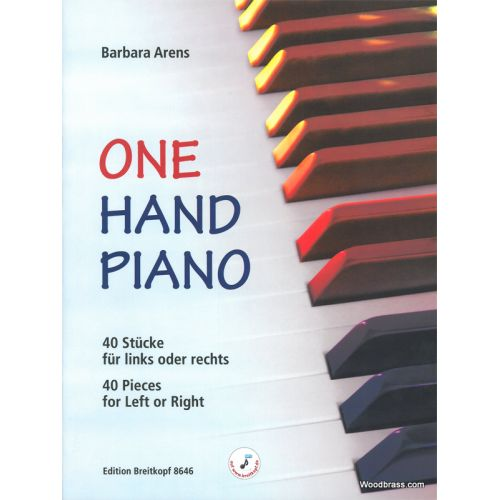 EDITION BREITKOPF ARENS BARBARA - ONE HAND PIANO
