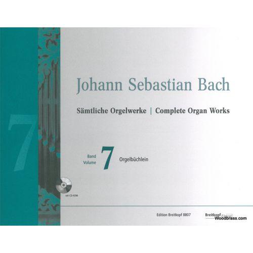 EDITION BREITKOPF BACH J.S. - COMPLETE ORGAN WORKS VOL.7 - ORGELBUCHLEIN + CD-ROM