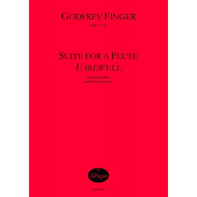 EDITION BAROQUE FINGER GODFREY - SUITE FOR A FLUTE