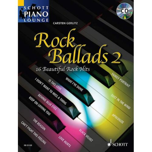 SCHOTT ROCK BALLADS 2 - PIANO