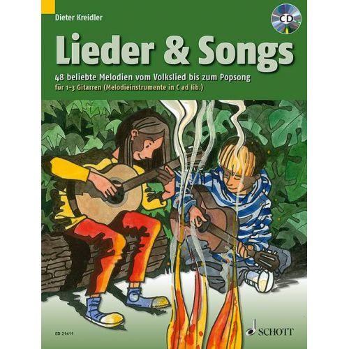 SCHOTT LIEDER & SONGS - GUITARE