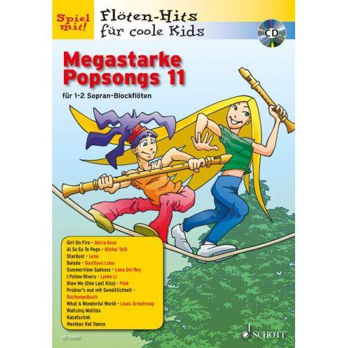 SCHOTT MEGASTARKE POPSONGS BAND 11 - FLUTE A BEC