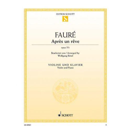 SCHOTT FAURE G. - APRS UN RVE OP. 7/1 - VIOLON