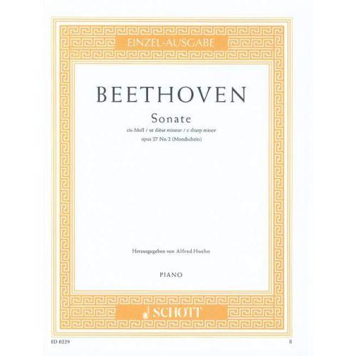 SCHOTT BEETHOVEN LUDWIG VAN - SONATA C SHARP MINOR OP. 27/2 - PIANO