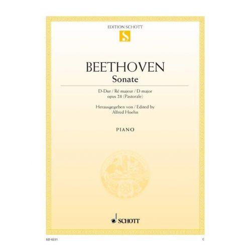 SCHOTT BEETHOVEN L.V. - SONATA D MAJOR OP. 28 - PIANO