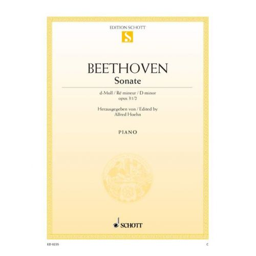 SCHOTT BEETHOVEN L.V. - SONATA D MINOR OP. 31/2 - PIANO