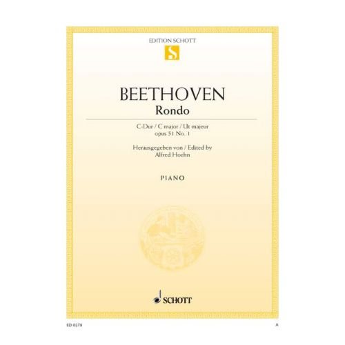 SCHOTT BEETHOVEN L.V. - RONDO C MAJOR OP. 51/1 - PIANO