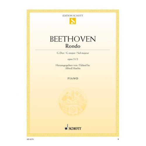 SCHOTT BEETHOVEN L.V. - RONDO G MAJOR OP. 51/2 - PIANO