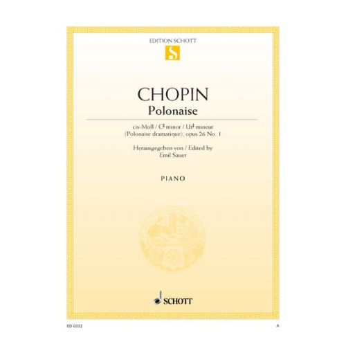 SCHOTT CHOPIN FREDERIC - POLONAISE C SHARP MINOR OP. 26/1 - PIANO