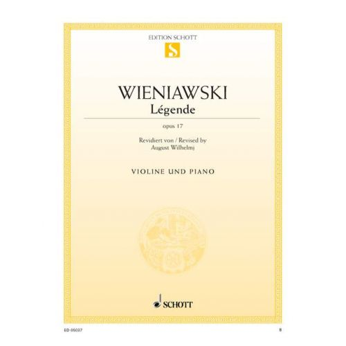 SCHOTT WIENAWSKI HENRI - LEGENDE OP 17 - VIOLON ET PIANO