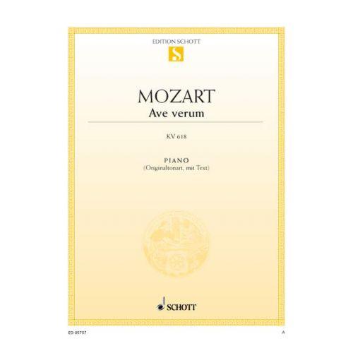 SCHOTT MOZART W.A. - AVE VERUM KV 618 - PIANO