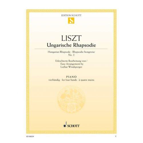 SCHOTT LISZT FRANZ - HUNGARIAN RHAPSODY - PIANO