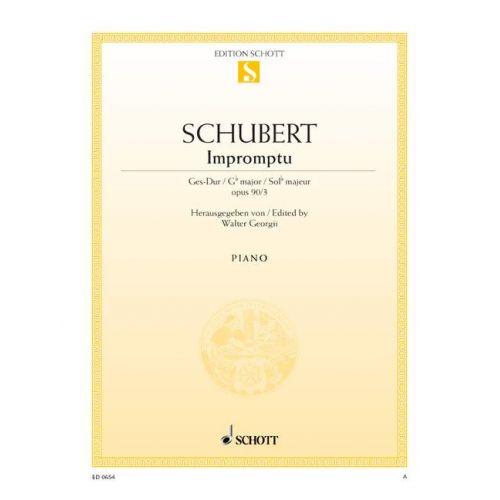 SCHOTT SCHUBERT FRANZ - IMPROMPTU OP. 90 D 899 - PIANO