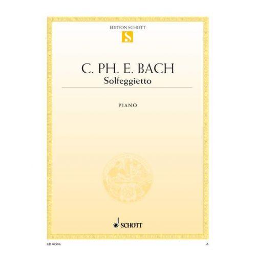 SCHOTT BACH C.P.E - SOLFEGGIETTO WQ 117/2 - PIANO