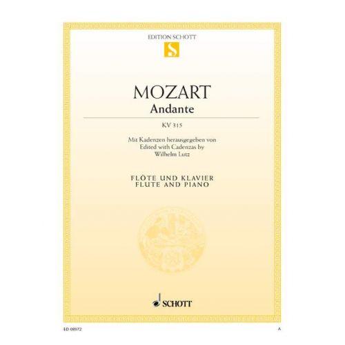 SCHOTT MOZART W.A. - ANDANTE FOR FLUTE KV 315 - FLUTE AND PIANO