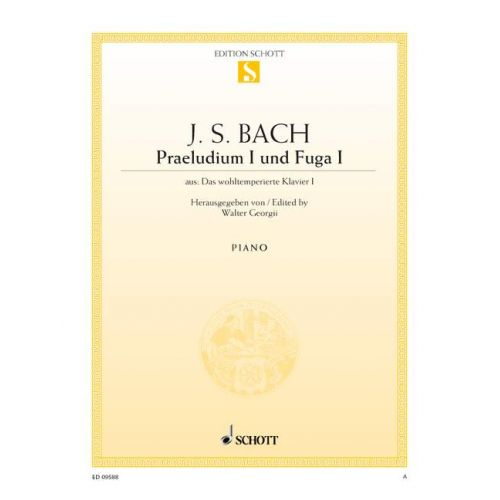 SCHOTT BACH J.S. - PRALUDIUM I AND FUGA I C MAJOR BWV 846 - PIANO