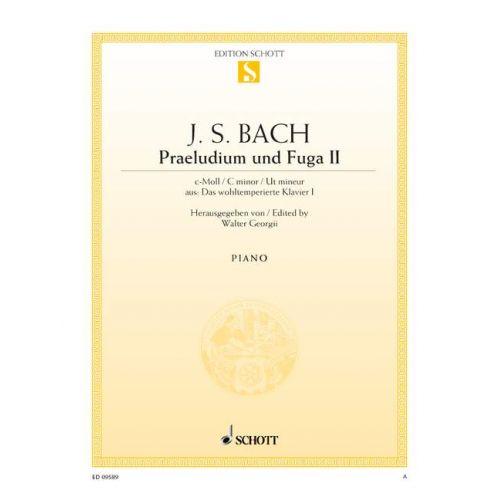 SCHOTT BACH J.S. - PRAELUDIUM II AND FUGA II C MINOR BWV 847 - PIANO