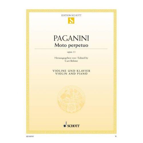 SCHOTT PAGANINI NICCOLO - MOTO PERPETUO OP. 11 - VIOLIN AND PIANO