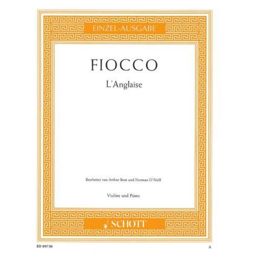 SCHOTT FIOCCO JOSEPH-HECTOR - L'ANGLAISE - VIOLIN AND PIANO