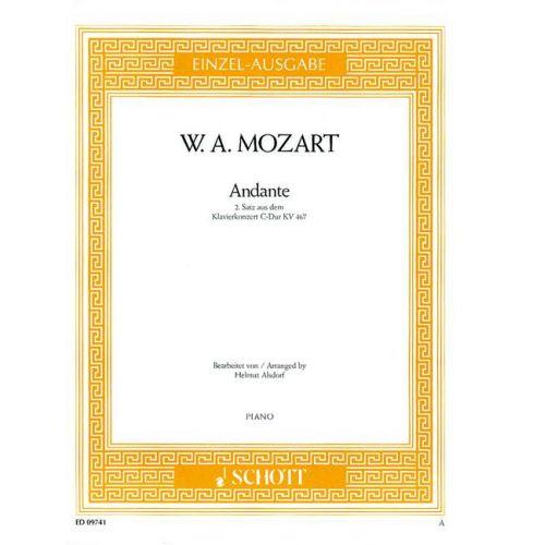 SCHOTT MOZART W.A. - ANDANTE KV 467 - PIANO