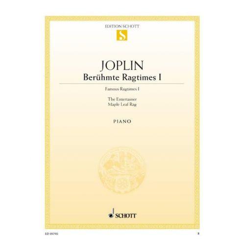 SCHOTT JOPLIN SCOTT - FAMOUS RAGTIMES BAND 1 - PIANO
