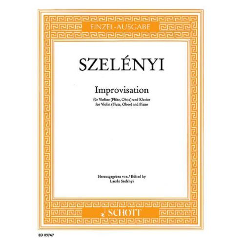 SCHOTT SZELENYI ISTVAN - IMPROVISATION - VIOLIN (FLUTE, OBOE) AND PIANO