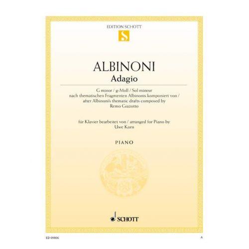 SCHOTT ALBINONI TOMASO - ADAGIO G MINOR - PIANO