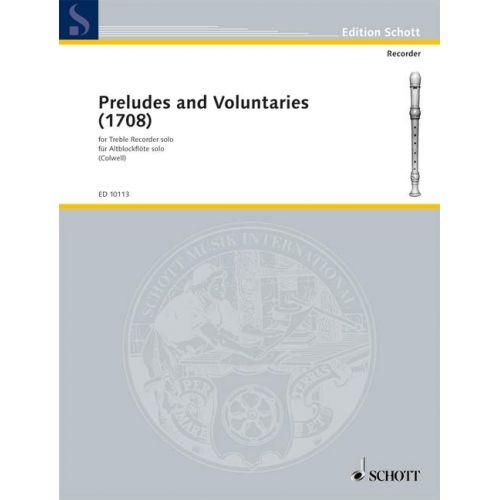 SCHOTT PRELUDES AND VOLUNTARIES - TREBLE RECORDER