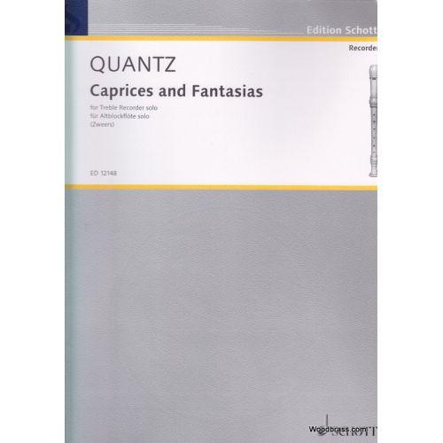 SCHOTT QUANTZ J. J. - CAPRICES AND FANTASIAS - FLB ALTO SOLO