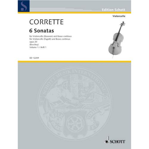 SCHOTT CORRETTE MICHEL - LES DELICES DE LA SOLITUDE OP.20 VOL.1 - CELLO (BASSOON) AND BASSO CONTINUO