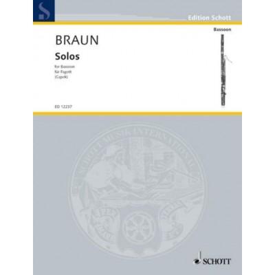 SCHOTT BRAUN J.D. - SOLOS - BASSON