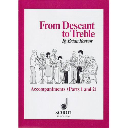 SCHOTT BONSOR B. - FROM DESCANT TO TREBLE - FLUTE A BEC