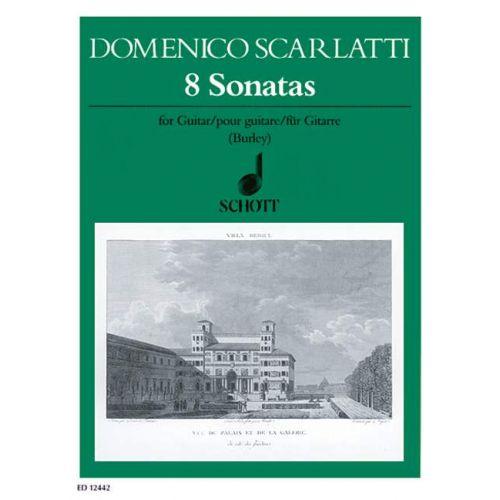 SCHOTT SCARLATTI DOMENICO - 8 SONATAS - GUITAR