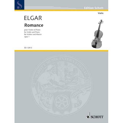 SCHOTT ELGAR EDWARD - ROMANCE OP. 1 - VIOLIN AND PIANO