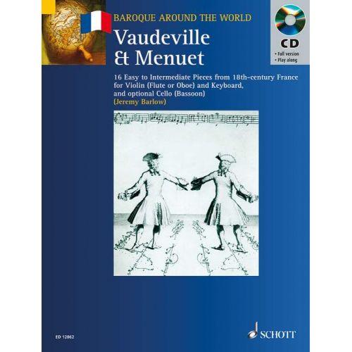 SCHOTT BARLOW JEREMY - VAUDEVILLE ET MENUET - VIOLIN AND PIANO