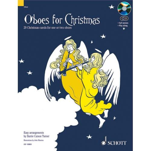 SCHOTT TURNER B.C. - OBOES FOR CHRISTMAS + CD - HAUTBOIS